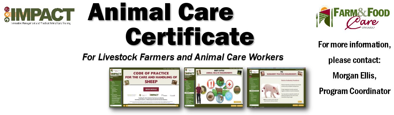 Farm Animal Care Certificate